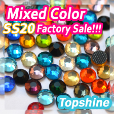 Mixed More than 20 Colors ss20 Hotfix Rhinestones DMC Flatback 4.6mm-4.8mm 1440pcs Factory Sale For DIY(China (Mainland))
