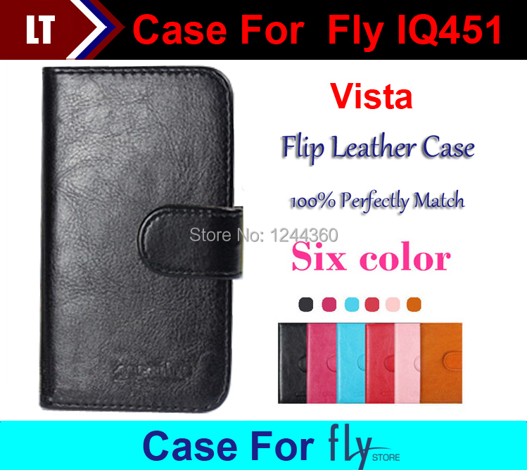 Newest Luxury Wallet Flip Leather Customize Protective Case For Fly IQ451 Vista Card Holder Wallet Bags +tracking number(China (Mainland))