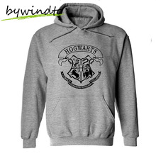 New Men Clothing Free Shipping Harry Potter Man Hoodie Casual Hogwarts Coat Gray Sports Pullover Hooded Sweatshirt