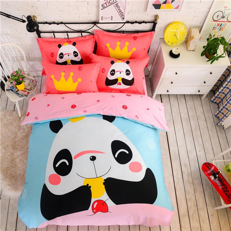 panda couette couvre promotion achetez des panda couette. Black Bedroom Furniture Sets. Home Design Ideas