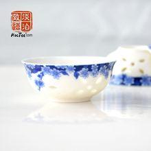 6 pieces Exquisite Hollowed out Transparent tea cup, Chinese Tea Cup,porcelain cups, Jingdezhen Ceramic teacup, cup for tea(China (Mainland))