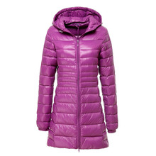 2016 New Brand Ladies Long Winter Warm Coat Women Ultra Light 90% White Duck Down Jacket With Bag Women Jackets High Quality(China (Mainland))