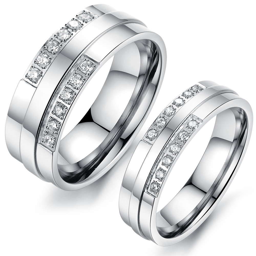 2016 New Wedding Bands Forever Love Vintage Engagement Couple Rings Silver Plated Lovers Korean Jewelry Promise Ring Sets PJ097(China (Mainland))