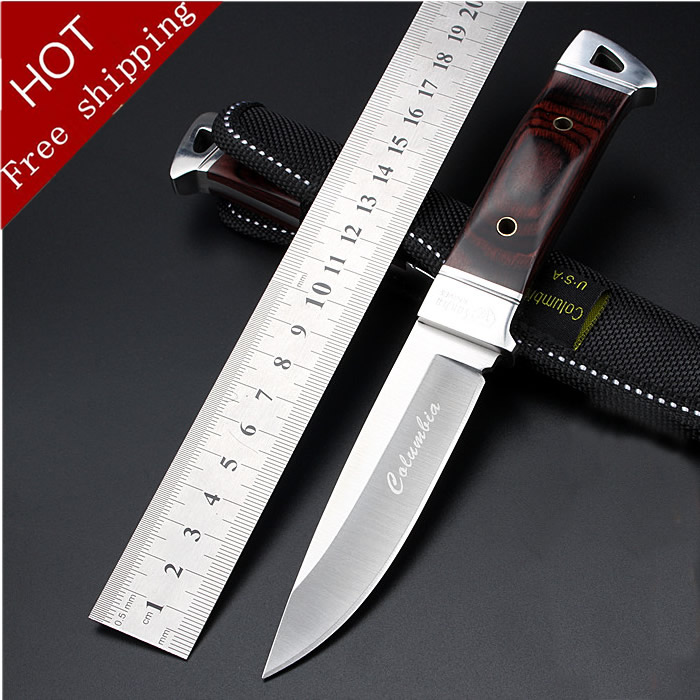 Hot! K90 fixed camping survival knife 57HRC Tactical hunting knife steel+color wood handle outdoor tools best gift free shipping<br><br>Aliexpress