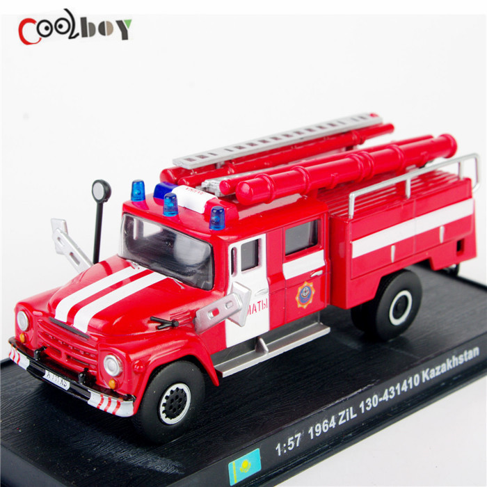 1:57 Scale Fire Truck Models 1964 ZiL 130-431410 Kazakhstan Diecast Fire Trucks Car Toys Vehicles Collection(China (Mainland))