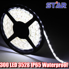 5m 300 LED SMD3528 60leds/m Flexible LED Strip Light 60led/m IP65 Waterproof White/Blue/Red/Green/Yellow/Warm White with DC plug