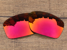 Polycarbonate-Fire Red Mirror Replacement Lenses For Scalpel Sunglasses Frame 100% UVA & UVB Protection