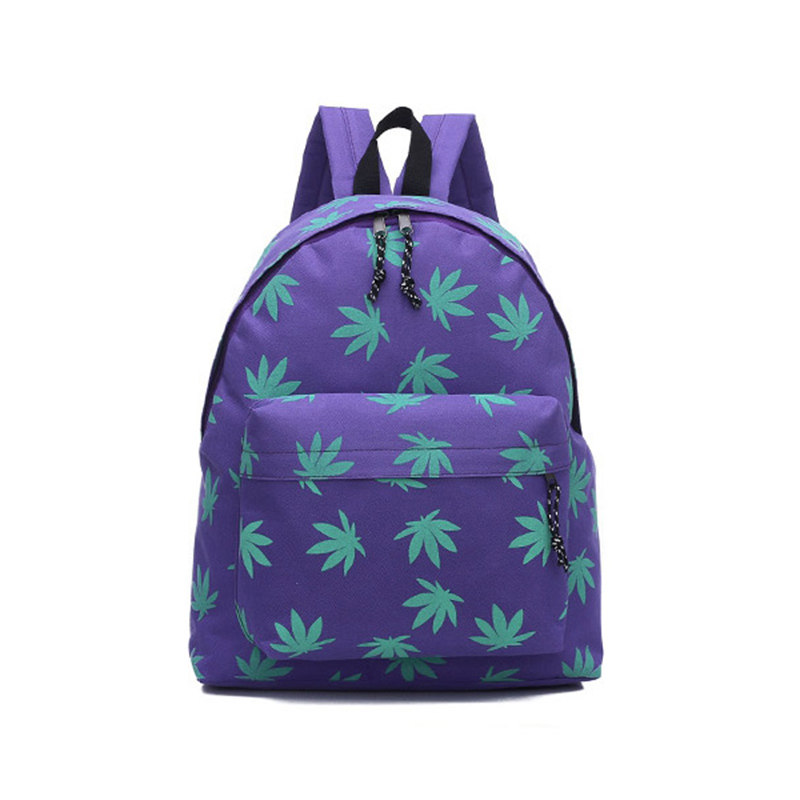 Popular Backpack Women 2015 Small Fresh Maple Leaves Printed Canvas Shoulder Bag Party School Bag Travel Shopping Backpack(China (Mainland))