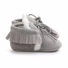 Новорожденный Ребенок Мальчик в Девочке PU Замши Мокасины Fringe Мягкой Подошве нескользящей Обуви Детская Кровать В Обуви(China (Mainland))