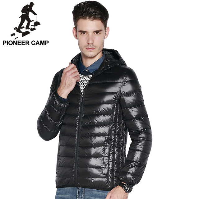 Pioneer Camp.! 2015 Модный winter mens down jacket Белый duck down men outdoors warm ...
