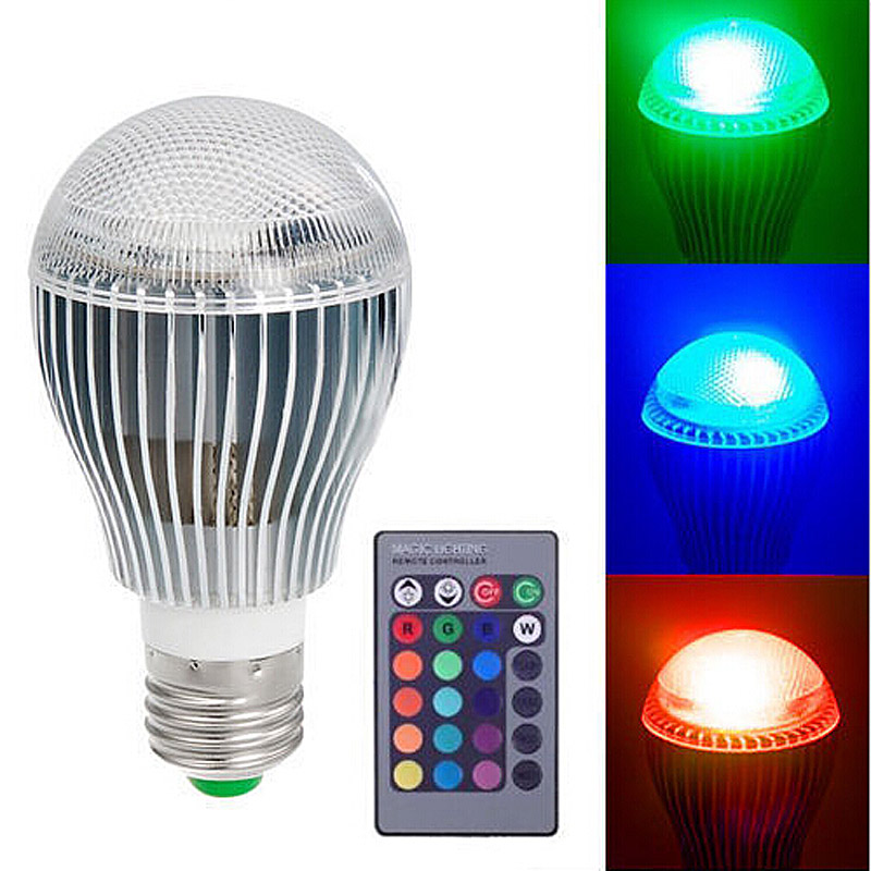 9W E27 RGB LED Spot Light Bulb Lamp Spotlight Color Changing Colorful Magic Lighting with IR Remote Controller ALI88(China (Mainland))