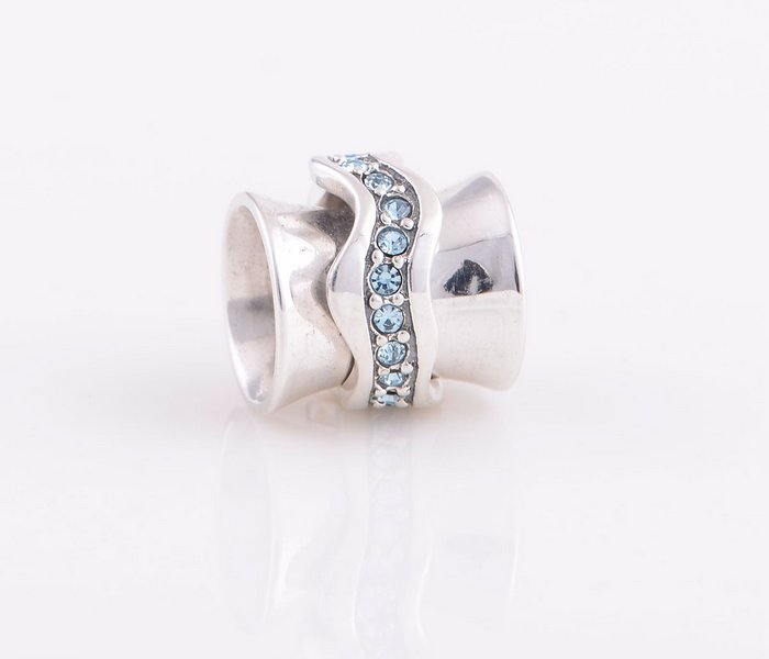 Crystal Rainbow Christmas 925 Sterling Silver Screw Thread Charms Bead Suitable for Pandora Snake Chain YZ121(China (Mainland))