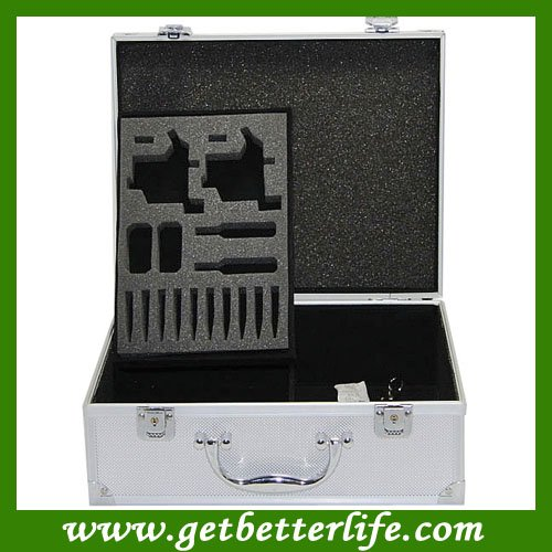 Professional tatoo kit box - Large White Metal Carrying Case with Lock WS-X02L for beginner tattoo kits supplies