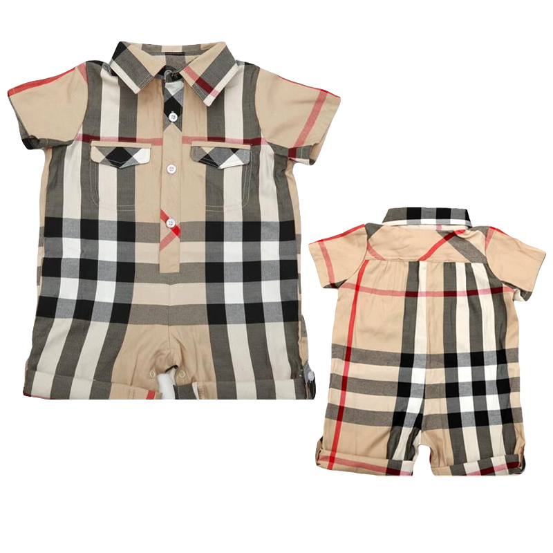 new born baby clothes brand 2015 summer polo baby boy plaid romper newborn baby boy costumes infant boy clothing baberos bebes()