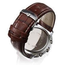 New Style Three Eyes Fashion Quartz Watch Men Sports Leather Strap Watch Casual Hours Dress Wristwatch