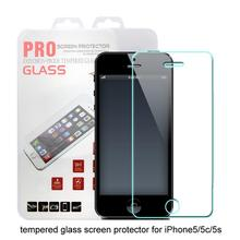 1000Pcs/lot Tempered Glass Screen Protector for iPhone 5 5s SE 2.5D 0.3MM 9H Ultra Thin Explosion-proof Hardness Retail Box