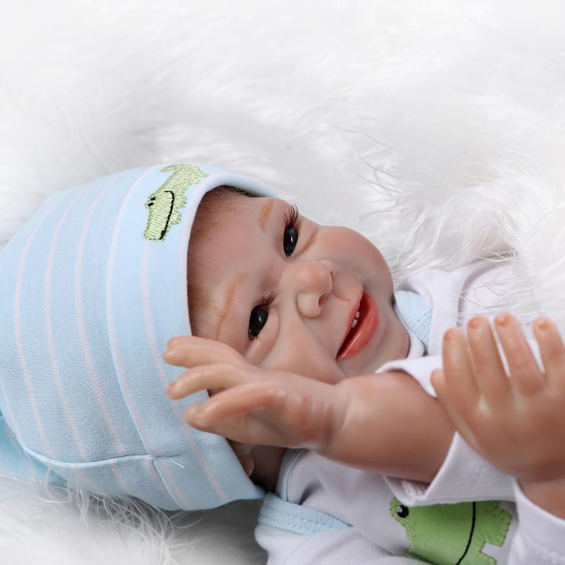 Silicone reborn child doll toys for ladies play home lifelike new child reborn boys infants birthday presnet reward collectable dolls