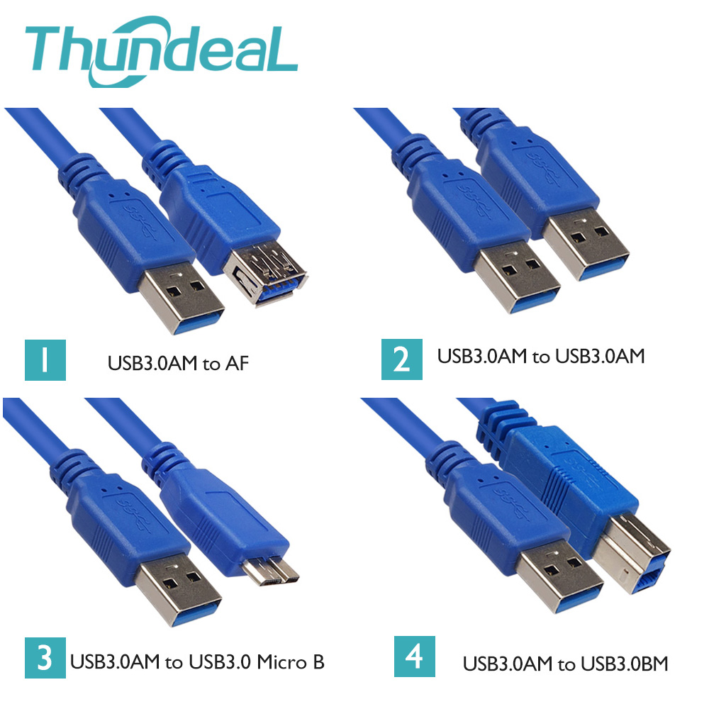 High Speed 1.5/3/5meter 3.0 USB Cable AM Male to Female AM AF BM Mirco-B Connector Extension Data Cable Adapter Printer USB 2.0(China (Mainland))