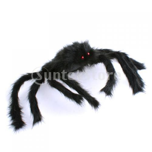 Free Shipping New 75cm Large Black Spider Plush Puppet Toy / Halloween Decor(China (Mainland))