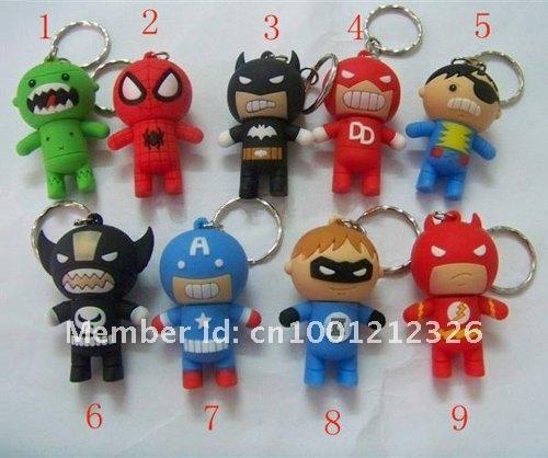 genuine 2G 4G 8G 16G 32G usb flash memory stick usb flash drive cartoon avengers spider man Free shipping wholesale 10pcs/lot(China (Mainland))