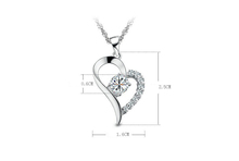 Silver Plated Cubic Zirconial Brand Love Heart Shape Pendant Necklaces Fashion Summer Jewelry for Women Wedding
