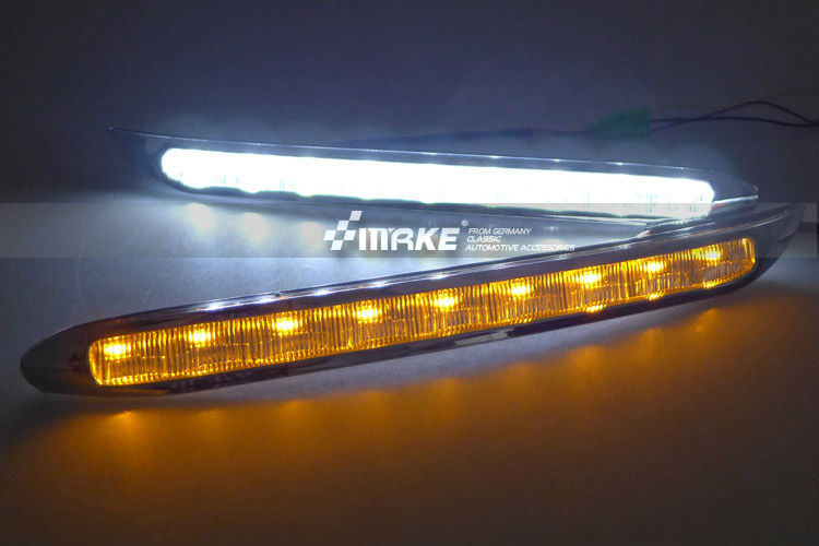 Car-specific led drl daytime running light for Kia K3 cerato with blue or yellow turn light function fast free shipping<br><br>Aliexpress