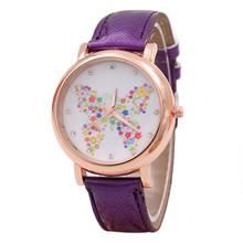 Best Selling Women Watches Analog Quartz Watch Charming Fashion Butterfly Shoes Pattern Leather Band relogio feminino(China (Mainland))