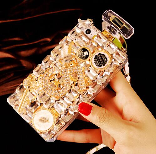 Luxury Handmade Diamond Bling Perfume Bottle Case For iPhone 4 4S 5 5S 6 6 Plus(China (Mainland))