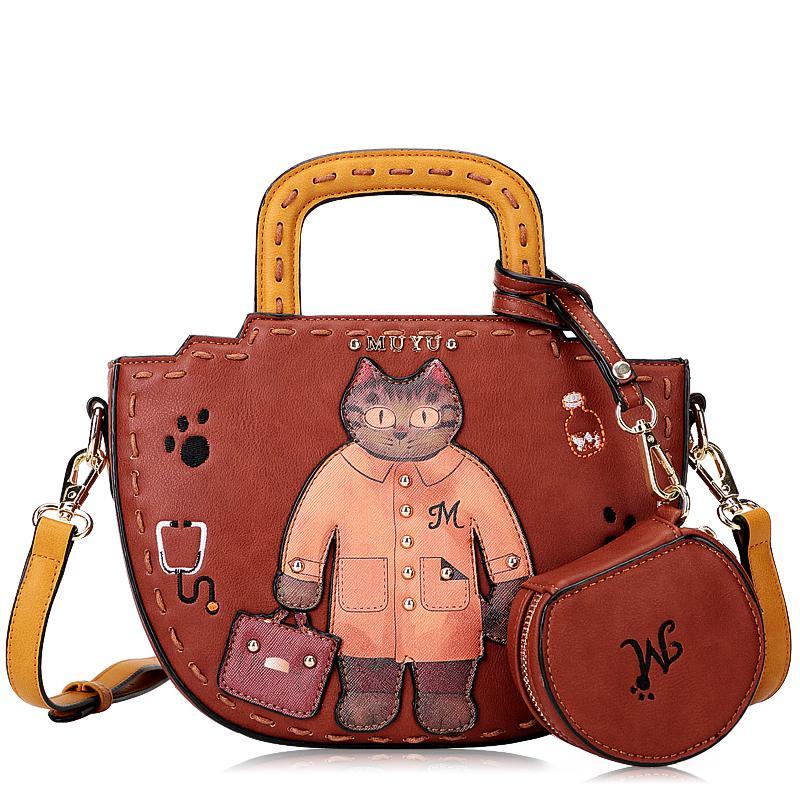 2015 New Winter Fashion handbag Picture Original Cartoon Printing crossbody Bag Lady small Shoulder Bag(China (Mainland))