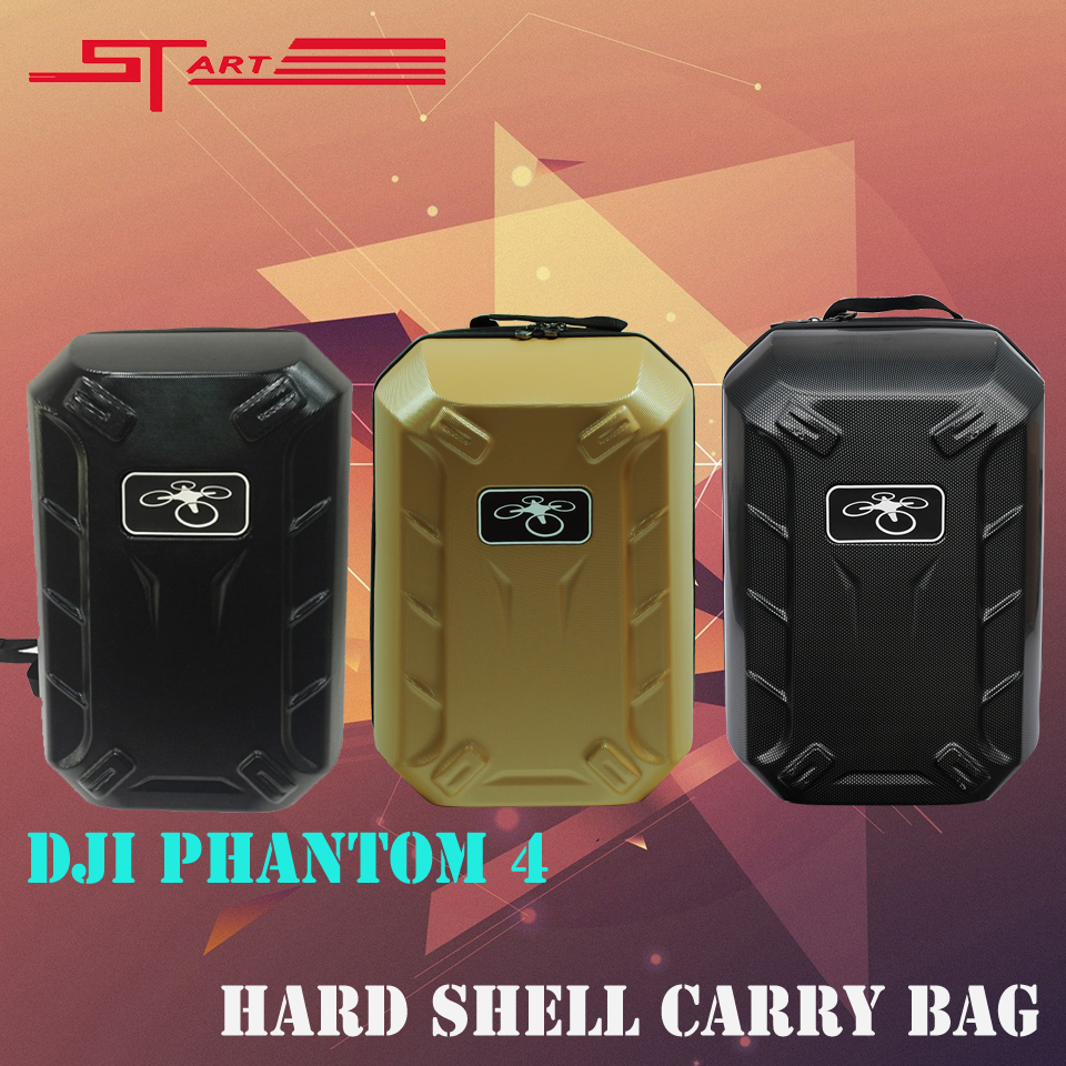 DJI Phantom 4 Black Gold Carbon Backpack FPV Drone Handle Hardshell Bag Carrying Case for DJI Phantom 4 RC Quadcopter Free Ship(China (Mainland))