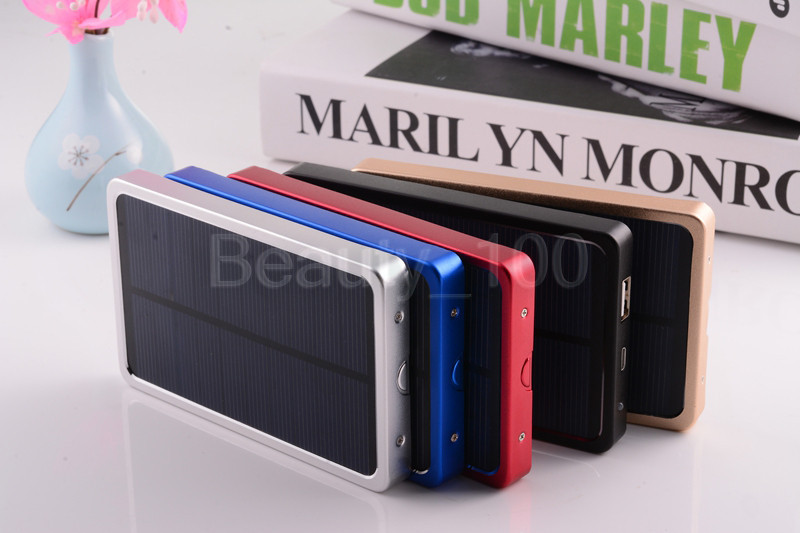 Free shipping New Solar Power Bank 4000mah Portable Solar Battery Hot sale Charging Battery for All mobile phones+retail box