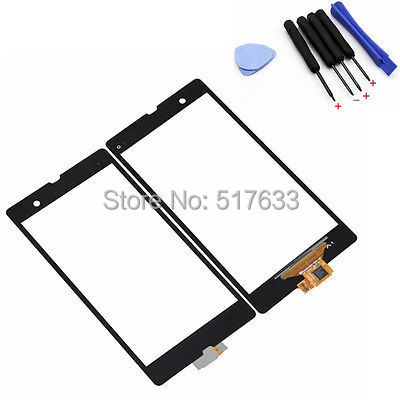 For  Sony Xperia Z C6603 L36 L36h LT36 Out Front Glass Lens+Touch Screen Digitizer+ Free Open Tools, free shipping+track code(China (Mainland))