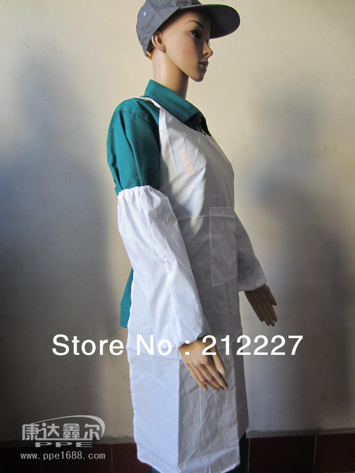 High quality white T/C work aprons(China (Mainland))