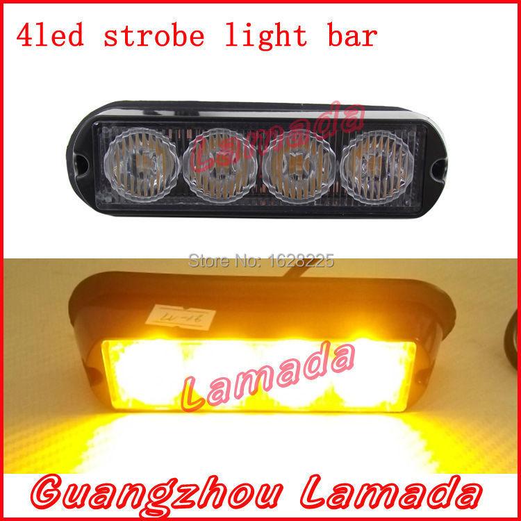4led Police strobe lights bar car vehicle flash light boat warnning lights trailer truck tail lamp 12v 24v RED BLUE WHITE AMBER(China (Mainland))