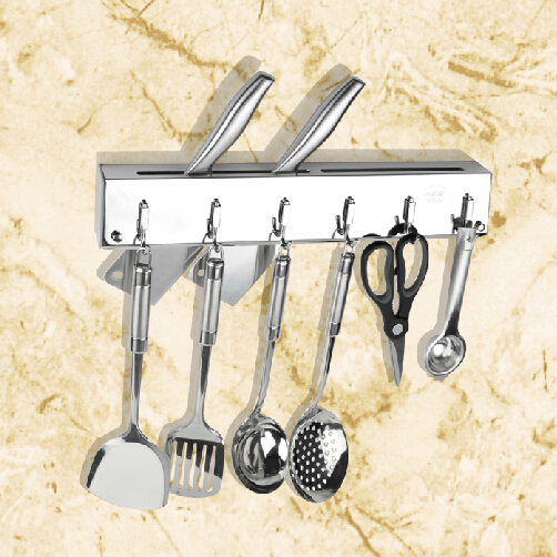 stainless steel 304 kitchen knife shelf wall tool holder. Black Bedroom Furniture Sets. Home Design Ideas