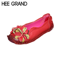 Loafers Woman Super Soft PU Leather Flats Anti-Slippy Flowers Bright Color Shoes Pregnant Woman Vintage Women's Shoes XWD3284(China (Mainland))
