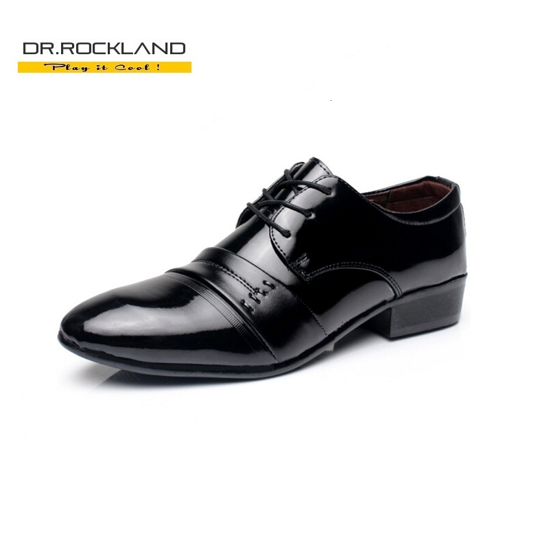 British Style Lace up Fashion Pu Leather Men Dress Wedding Shoes Business Pointed Toe Brand Man Casual Design Male Flat Oxfords(China (Mainland))