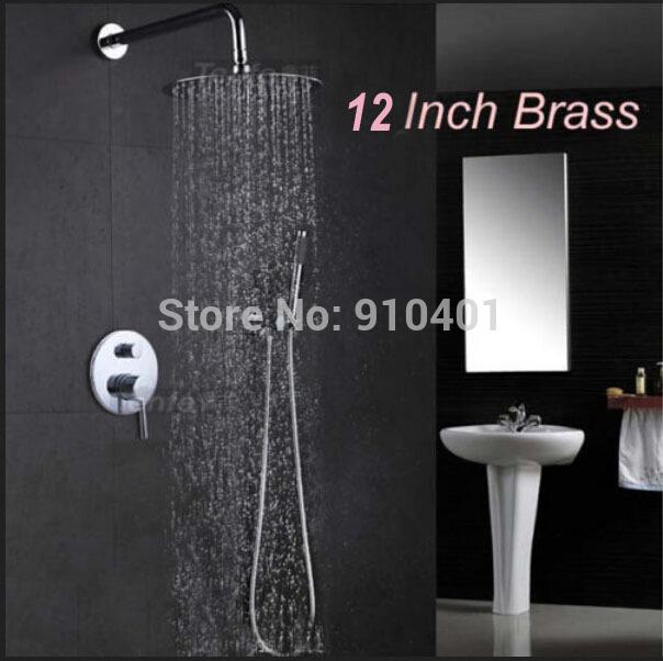 Montado en la pared cuarto de ba o 12 lluvia grifo de la - Grifo de la ducha ...