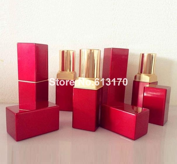 DHL OR EMS Free shipping High quanlity 4g square empty lipbalm tubes diy lipstick lipgloss tube red with gold for women men<br><br>Aliexpress