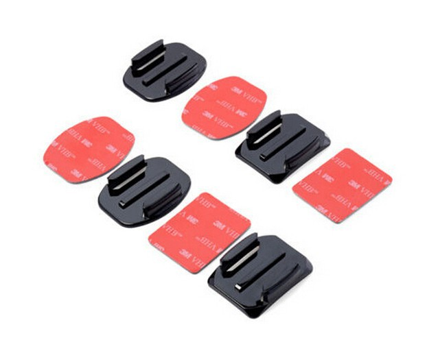 2x Flat & 2x Curved Mounts with 3M Adhesive Pads for SOOCOO S70 Action Camera Accessories