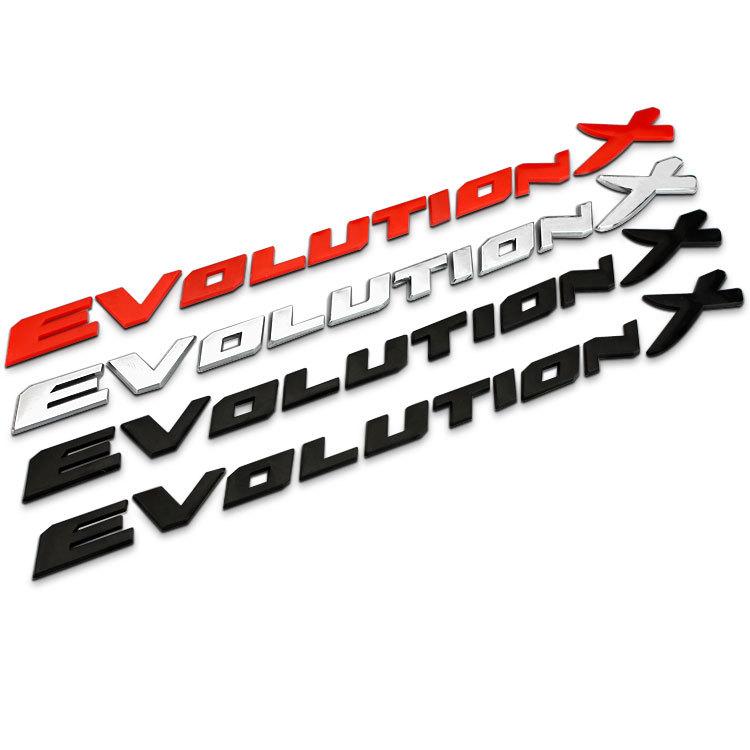 B124 3D métal voiture chromé emblème Badge autocollant Decal autocollants retour Logo Evolution X pour MITSUBISHI Lancer Car styling(China (Mainland))
