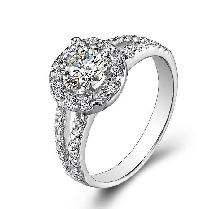 NICETER Brand Classic Design Ring Retro Wedding Rings Women 18K Real Gold Micro CZ Diamond 0.5Ct Engagement Jewelry - Niceter store
