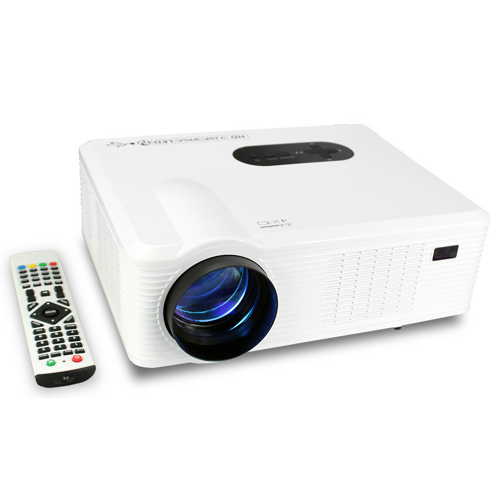 2015 latest Home Theater Cinema 3D HD Projector with HDMI /AV/VGA/SD/USB Multimedia Player LED GAME TV Projectors(China (Mainland))