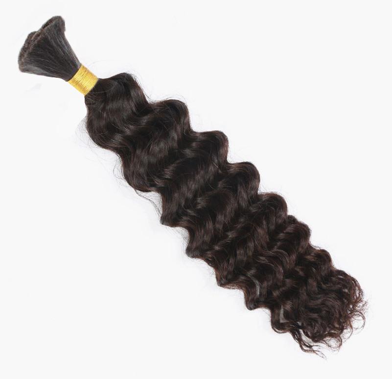 Brazilian Virgin Hair Deep Wave Bulk Hair For Braiding 100g Brazilian Deep Wave Human Hair Extensions