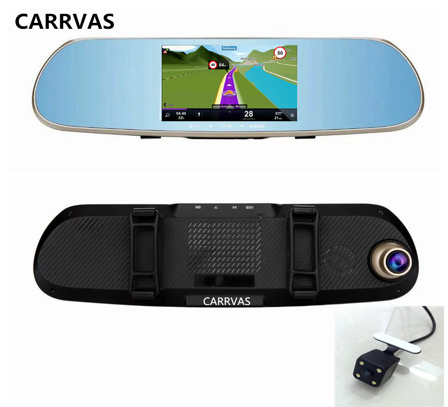 "5"" Android WIFI Car GPS Navigation with Dual Lens DVR Rearview Mirror Camera 1080P video recorder camera with maps(China (Mainland))"