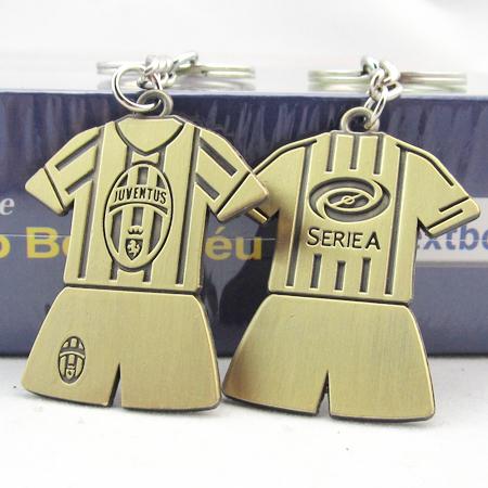 Hot! 2015 Juventus Keychains Metal Copper Sport Soccer Jersey Keychain Football Fans Keyring Souvenir(China (Mainland))