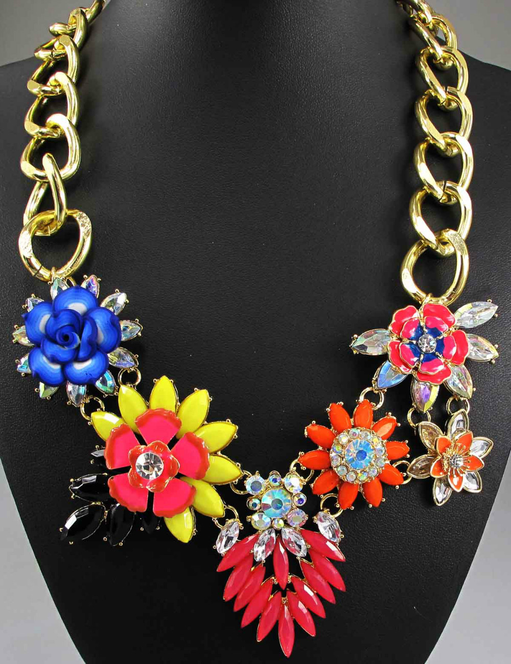 Newest Gorgeous Fashion Necklace Jewelry crystal Department Statement Necklace Women Choker Necklaces & Pendants Q588(China (Mainland))