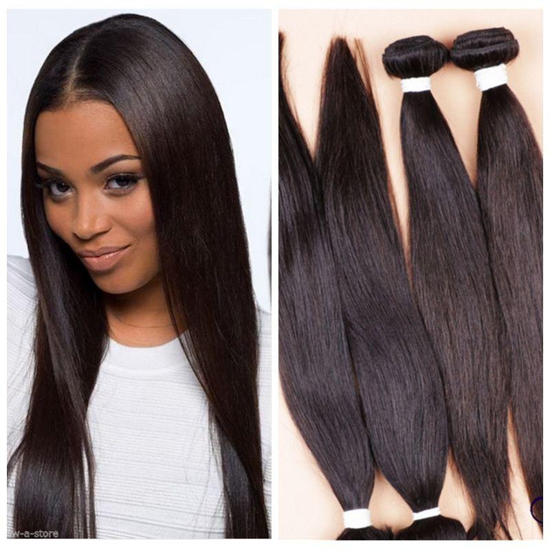 Гаджет  6A Peruvian Virgin Hair 3 Bundles 50gram/ps Remy Virgin Straight Human Hair Weave Extensions 150g Weft None Волосы и аксессуары