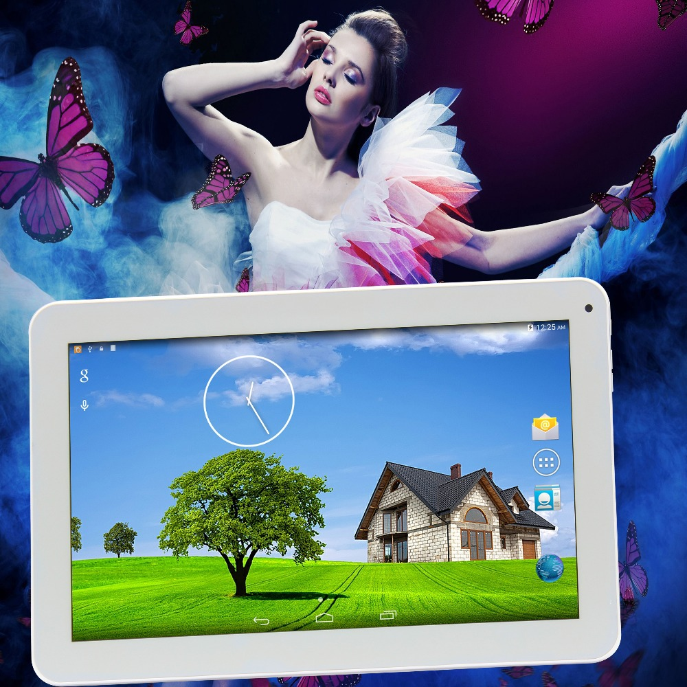 10 Inch Android Tablets Pc Quad Core Dual Camera WiFi Bluetooth FM 1GB 16GB MTK8127 Android4