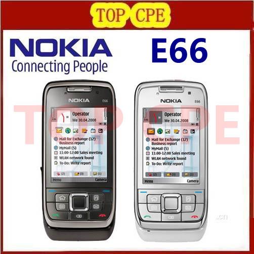 Hot Sale phone unlocked original Nokia E66 3G SmartPhone 3.2MPcamera GPS WIFI so good refurbished mobile cell phones(China (Mainland))